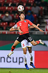 Lee Seungwoo of South Korea (front) fights for the ball with Hamad Mahmood Alshamsan of Bahrain (back) during the AFC Asian Cup UAE 2019 Round of 16 match between South Korea (KOR) and Bahrain (BHR) at Rashid Stadium on 22 January 2019 in Dubai, United Arab Emirates. Photo by Marcio Rodrigo Machado / Power Sport Images