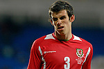 International Friendly match between Wales and Scotland at the new Cardiff City Stadium : Gareth Bale of Wales pulls a face.