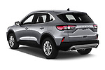 Car pictures of rear three quarter view of 2020 Ford Kuga Titanium 5 Door SUV Angular Rear