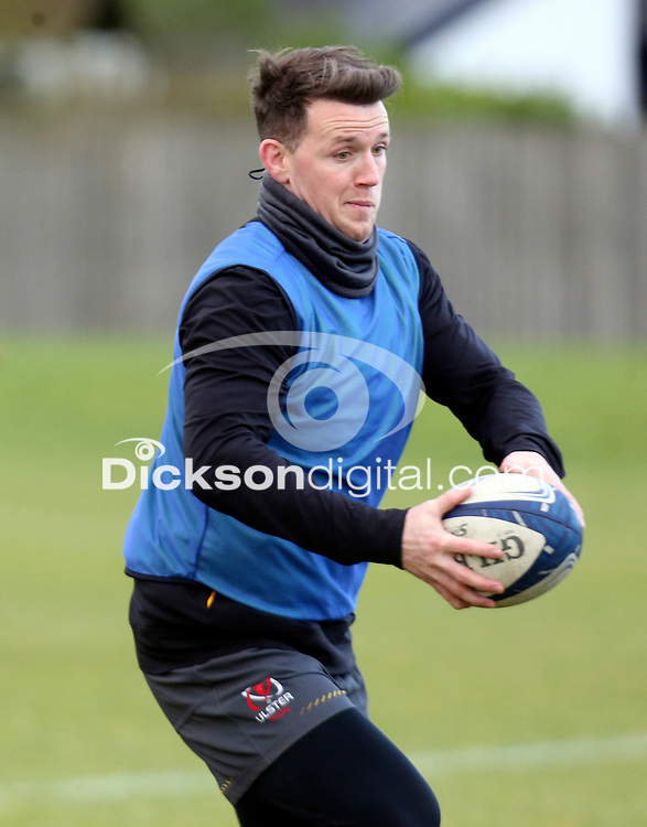 16th February 2021;  Craig Gilroy during an Ulster Rugby squad pitch session held at Pirrie Park, Belfast, Northern Ireland. Photo by John Dickson/Dicksondigital
