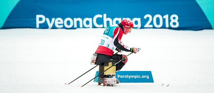Chris Klebl, PyeongChang 2018 - Para Nordic Skiing // Ski Paranordique.<br /> Team Canada during a biathlon/cross country training session // Équipe Canada lors d'une séance d'entraînement de biathlon / cross-country. 09/03/2018.