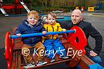 Enjoying the playground in the Killarney National park on Saturday, l to r: Patrick, Conell and Darragh McSweeney