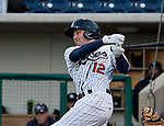 Reno Aces A.J. Pollock swings during their game against the Colorado Springs Sky Sox on Friday night, April 6, 2012 in Reno, Nevada.