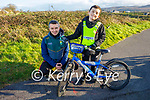 Mike and Conor McCannon from Tralee who practising his road safety on his bike on Sunday in Blennerville.