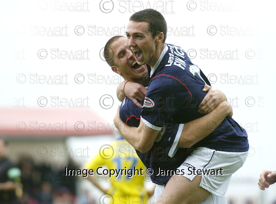 20/10/2007       Copyright Pic: James Stewart.File Name : sct_jspa04_falkirk_v_kilmarnock.CARL FINNIGAN CELEBRATES AFTER HE SCORES FALKIRK'S FIRST.James Stewart Photo Agency 19 Carronlea Drive, Falkirk. FK2 8DN      Vat Reg No. 607 6932 25.Office     : +44 (0)1324 570906     .Mobile   : +44 (0)7721 416997.Fax         : +44 (0)1324 570906.E-mail  :  jim@jspa.co.uk.If you require further information then contact Jim Stewart on any of the numbers above........
