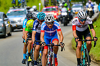 MEDELLIN - COLOMBIA, 13-02-2019: Stiven Cuesta (COL), Deprisa, y Simon PELLAUD (SUI), I AM Exelsior, durante la segunda etapa del Tour Colombia 2.1 2019 con un recorrido de 150.5 Km, que se corrió entre La Ceja Canadá - Carmen de Viboral - Rionegro - Canadá - La Ceja. / Stiven Cuesta (COL), Deprisa, and Simon PELLAUD (SUI), I AM Exelsior, during the second stage of 150.5 km of Tour Colombia 2.1 2019 that ran through La Ceja Canada - Carmen de Viboral - Rionegro - Canada - La Ceja.  Photo: VizzorImage / Anderson Bonilla / Cont
