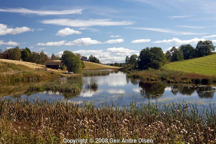 Calm creek on a nice autumnday, at Enebakk outside Oslo in Norway