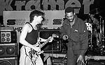 Eddie Van Halen , Michael Winslow  at NAMM 1987
