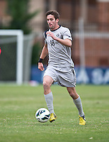 Steve Neumann (18) of Georgetown brings the ball upfield during the game at North Kehoe Field in Washington DC. Georgetown defeated St. John's, 2-1, in the Big East conference tournament quarterfinals.