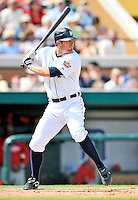 9 March 2011: Detroit Tigers' infielder Danny Worth in action during a Spring Training game against the Philadelphia Phillies at Joker Marchant Stadium in Lakeland, Florida. The Phillies defeated the Tigers 5-3 in Grapefruit League play. Mandatory Credit: Ed Wolfstein Photo
