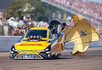 Aug 18, 2019; Brainerd, MN, USA; NHRA funny car driver J.R. Todd during the Lucas Oil Nationals at Brainerd International Raceway. Mandatory Credit: Mark J. Rebilas-USA TODAY Sports