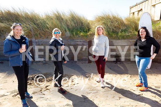 Enjoying Banna beach on Tuesday, l to r: Sarah Stack, Jane Sharp, Vanetia Prenderville and Marie Morris.