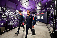 ORLANDO, FL - NOVEMBER 15: Walker Zimmerman #4 and Jackson Yueill #14 of the United States walks through the tunnel out to the field during a game between Canada and USMNT at Exploria Stadium on November 15, 2019 in Orlando, Florida.