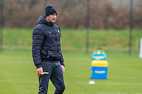 Tuesday 17 January 2017<br /> Pictured: Manager of Swansea City Paul Clement looks on during training <br /> Re:Swansea City training session at the Fairwood Training ground, Fairwood, Swansea, Wales, UK