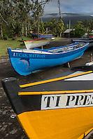 France, île de la Réunion, Saint Philippe, Le port et les barques des pêcheurs//  France, Ile de la Reunion (French overseas department), Saint Philippe, Port and fishing boats