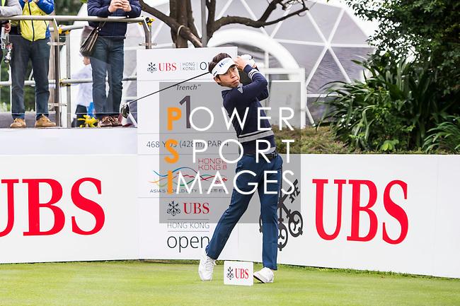 Jinho Choi of South Korea tees off during the day three of UBS Hong Kong Open 2017 at the Hong Kong Golf Club on 25 November 2017, in Hong Kong, Hong Kong. Photo by Marcio Rodrigo Machado / Power Sport Images