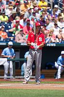 North Carolina State Wolfpack shortstop Trea Turner #8 bats during Game 3 of the 2013 Men's College World Series between the North Carolina State Wolfpack and North Carolina Tar Heels at TD Ameritrade Park on June 16, 2013 in Omaha, Nebraska. The Wolfpack defeated the Tar Heels 8-1. (Brace Hemmelgarn/Four Seam Images)