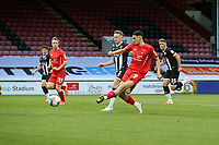 Grimsby's No 10 Geroge Williams puts them ahead 1.2 during Leyton Orient vs Grimsby Town, Sky Bet EFL League 2 Football at The Breyer Group Stadium on 17th October 2020
