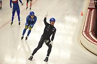 SPEEDSKATING: INZELL: Max Aicher Arena, 10-02-2019, ISU World Single Distances Speed Skating Championships, Mass Start Men, Joey Mantia (USA), ©photo Martin de Jong