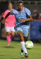 Rosana #11 of Sky Blue FC during a WPS match against Washington Freedom at Maryland Soccerplex on August 28 2010, in Boyds, Maryland. Freedom won 2-1.