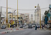 SENEGAL, Touba, Hauptstadt der Bruderschaft der Mouriden, Große Moschee von Touba, das religiöse Zentrum der Murīdīya-Bruderschaft