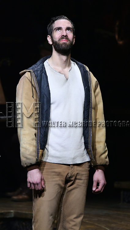 Timothy Hughes during Broadway Opening Night Performance Curtain Call for 'Hadestown' at the Walter Kerr Theatre on April 17, 2019 in New York City.