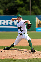 Beloit Snappers relief pitcher Cody Mincey (26) delivers a pitch during a game against the Quad Cities River Bandits on July 18, 2021 at Pohlman Field in Beloit, Wisconsin.  (Brad Krause/Four Seam Images)