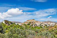 The castle of Volissos in Chios island, Greece