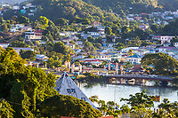 Castries, St. Lucia.  Early Morning View.
