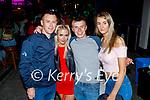 Enjoying the evening in Killarney on Saturday, front l to r: Darragh Gill, Wiktoria Szymaska, Nodie Roche and Clodagh Fitzgerald (Knocknagoshel).