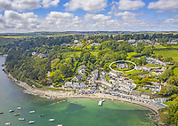 BNPS.co.uk (01202) 558833. <br /> Pic: LillicrapChilcott/BNPS<br /> <br /> Pictured: Huefield and the Helford River.<br /> <br /> This impressive waterfront home with breath-taking views is the perfect property for a wannabe sailor - on the market for £2.5m.<br /> <br /> Huefield sits in an elevated position looking over the rooftops of neighbouring properties onto the beautiful Helford River in Cornwall - ideal for watching boats coming and going.<br /> <br /> The Helford Passage area is so sought after houses rarely come up for sale and this one, on the market with Lillicrap Chilcott, is the only property available there at the moment.<br /> <br /> The five-bedroom home is south facing and has a swimming pool and beautiful gardens for enjoying the view, as well as access to a gate with a right of way down to the water.