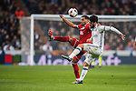 Gabriel Mercado (l) of Sevilla FC competes for the ball with Isco of Real Madrid during their Copa del Rey Round of 16 match between Real Madrid and Sevilla FC at the Santiago Bernabeu Stadium on 04 January 2017 in Madrid, Spain. Photo by Diego Gonzalez Souto / Power Sport Images