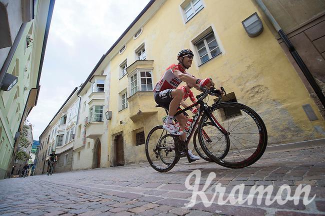Maxime Monfort (BEL/Lotto-Soudal) off to the start<br /> <br /> stage 16: Bressanone/Brixen - Andalo 132km<br /> 99th Giro d'Italia 2016