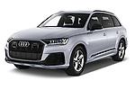 2020 Audi Q7 S-Line 5 Door SUV Angular Front automotive stock photos of front three quarter view
