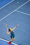 Barbora Strycova of Czech Republic serves during the singles Round Robin match of the WTA Elite Trophy Zhuhai 2017 against Sloane Stephens of United Sates at Hengqin Tennis Center on November  03, 2017 in Zhuhai, China.  Photo by Yu Chun Christopher Wong / Power Sport Images