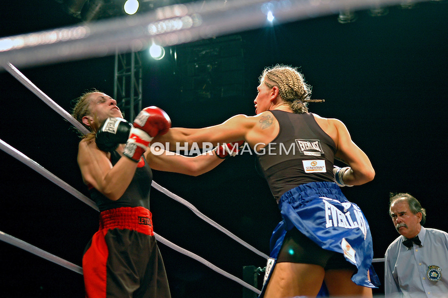 Luta de boxe Feminino, Predador Fight São Paulo. 2006. Foto de Pedro Stabile.