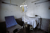 "The abortion chair of a country clinic in Guangdong Province, south China.  Forced abortions are commonly carried out by the Birth Control Unit on women that go ""over quota"" or break the law strict Birth Control laws in China.  Recently riots broke out and five officials were killed in Bobai country in south China after forced abortions and fines were levied on the hapless population.<br /> <br /> PHOTO BY RICHARD JONES/SINOPIX"