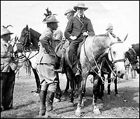 BNPS.co.uk (01202 558833)<br /> Pic: BNPS<br /> <br /> Winston Churchill (26) on a horse following his daring escape form prison during the Boer War.<br /> <br /> A bravery medal awarded at the behest of Winston Churchill to a train driver who tried to save the future Prime Minister from being captured during the Boer War has come to light.A young Churchill roused wounded driver Charles Wagner and engine firemen Alexander Stewart into action after their armoured train was attacked and derailed by enemy soldiers.Churchill, then a newspaper war correspondent, talked Wagner out of fleeing the scene and remain in his engine cab in order to clear the blocked line.Although he was captured, Churchill later escaped and insisted both men be awarded the Albert Medal.