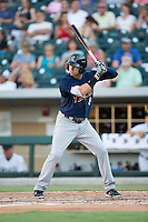 Jake Cave (8) of the Scranton/Wilkes-Barre RailRiders at bat against the Charlotte Knights at BB&T BallPark on July 20, 2016 in Charlotte, North Carolina.  The RailRiders defeated the Knights 14-2.  (Brian Westerholt/Four Seam Images)