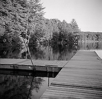 Swimming pier off lake<br />