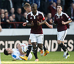 Ian Black in agony after geting clettered by Adam Eckersley