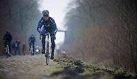 Paris-Roubaix 2013 recon<br /> <br /> Eloy Teruel (ESP) Trouée d'Arenberg reconnaissance