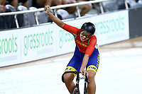 Shaane Fulton finishes first in the Women Elite Keirin during the 2020 Vantage Elite and U19 Track Cycling National Championships at the Avantidrome in Cambridge, New Zealand on Saturday, 25 January 2020. ( Mandatory Photo Credit: Dianne Manson )
