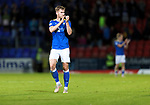 St Johnstone v Lask…26.08.21  McDiarmid Park    Europa Conference League Qualifier<br />Jamie McCart applauds the fans at full time<br />Picture by Graeme Hart.<br />Copyright Perthshire Picture Agency<br />Tel: 01738 623350  Mobile: 07990 594431