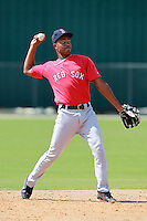 Boston Red Sox minor league shortstop Xander Bogaerts (12) during a game vs. the Minnesota Twins in an Instructional League game at Lee County Sports Complex in Fort Myers, Florida;  October 2, 2010.  Photo By Mike Janes/Four Seam Images