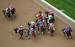 MAY 2, 2014: The field passes the grand stands for the first time in Kentucky Oaks Stakes at Churchill Downs in Lexington, KY. Jon Durr/ESW/CSM