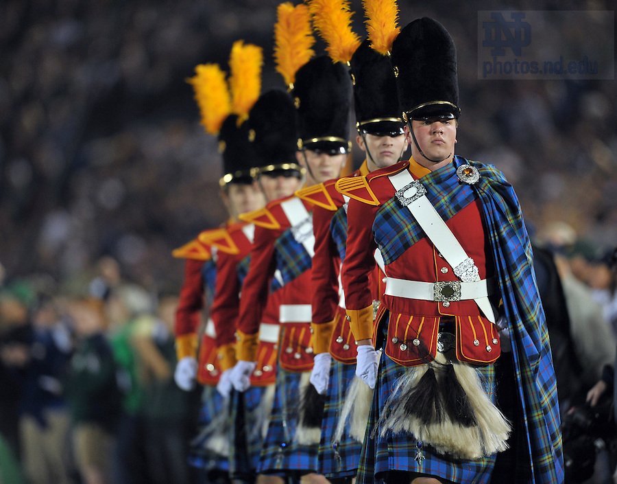 Oct. 22, 2011; The Irish Guard march during pregame at the USC game, 2011...Photo by Matt Cashore/University of Notre Dame