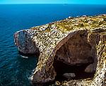Malta, bei Wied-iz-Zurrieq: die Gewölbe der Blauen Grotte | Malta, near Wied-iz-Zurrieq: Blue Grotto