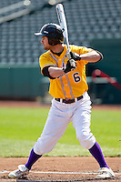 Dan Dispensa (6) of the Western Illinois Leathernecks during a game vs. the Missouri State Bears at Hammons Field in Springfield, Missouri;  March 20, 2011.  Photo By David Welker/Four Seam Images