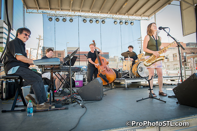 ELSIE PARKER AND THE POOR PEOPLE OF PARIS performing at St. Louis Art Fair in Clayton, MO on Sept 9, 2012.